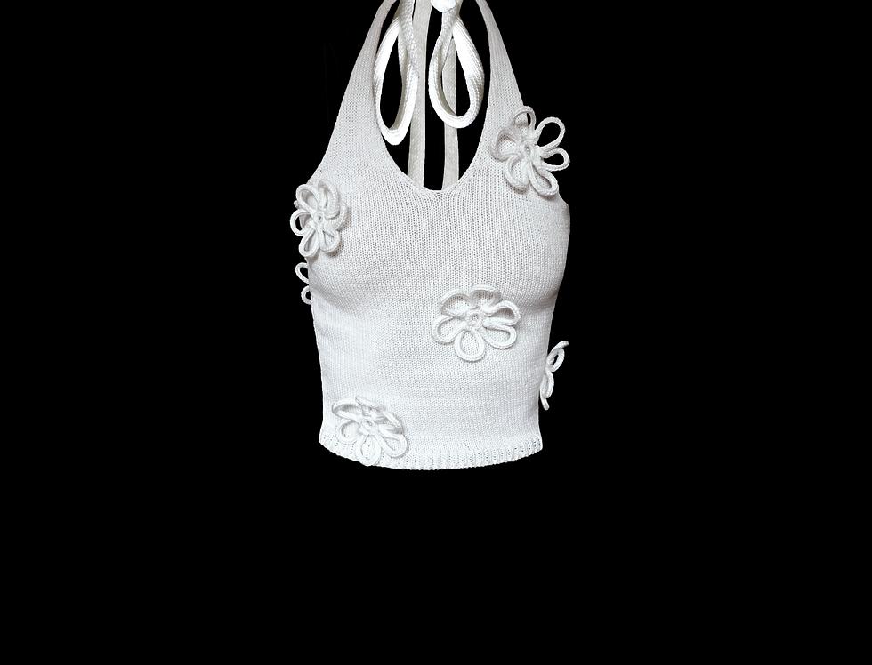 Flower halter top
