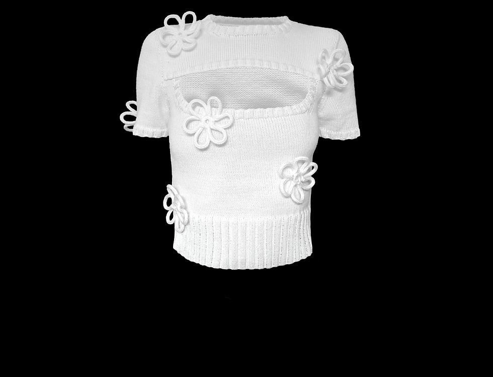 Flower cut out t-shirt