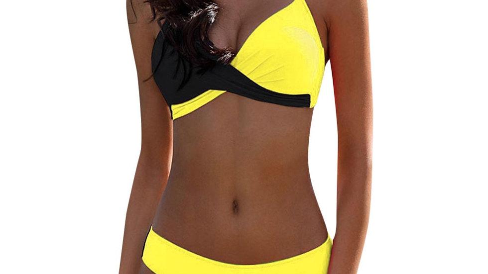 Padded Push-Up Bra Pattern Bikini Set