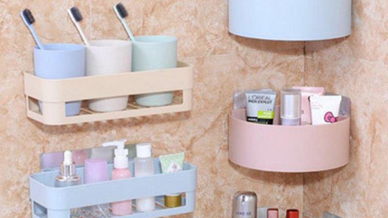 Bathroom Shelving Wall Corner Storage Rack Organizer/Shower Shampoo Holder