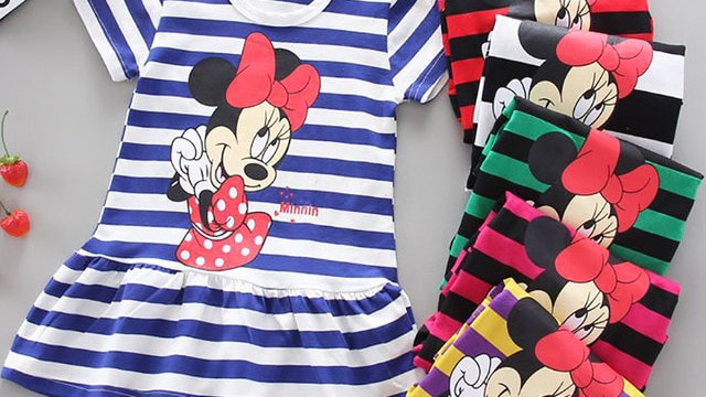 Baby Girl Cartoon Summer Dress