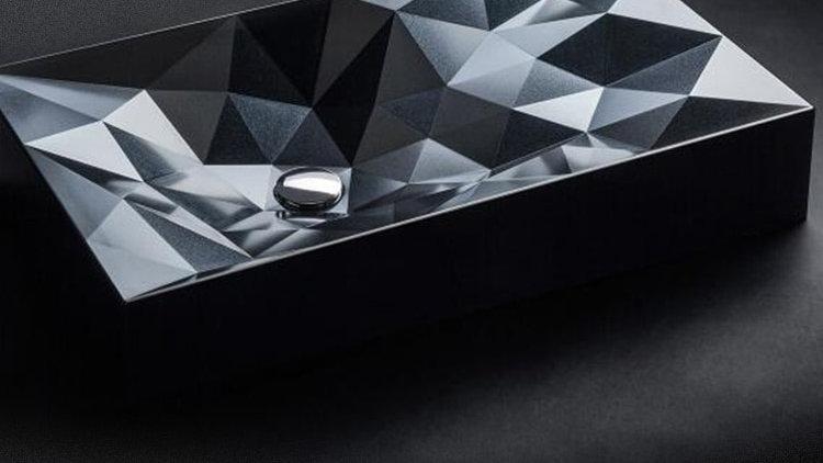 Nordic Ceramic Black Bathroom Sink/Glass Vessel Bathroom Sink/Bowl Diamond Basin