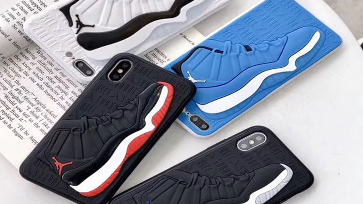 Sneaker Soft Silicone Rubber Cell Phone Case Cover for Iphone 8 Plus X Xr-12Pro