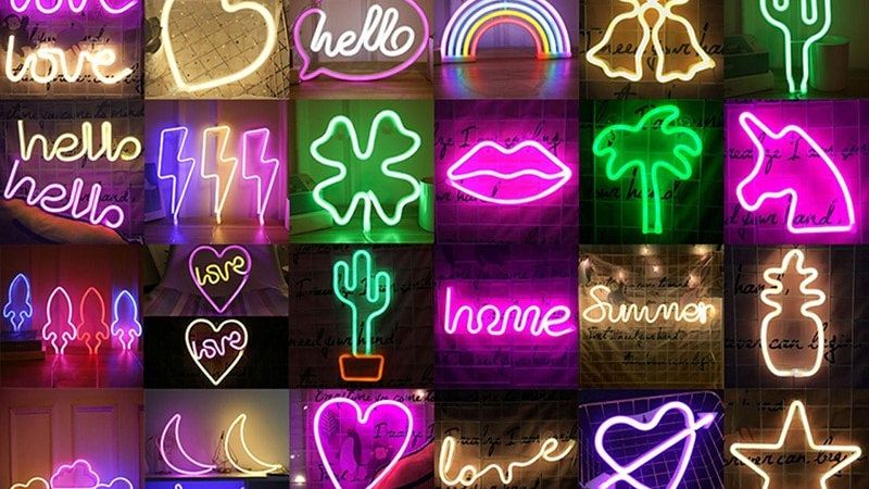 LED Neon Light Battery Operated Signs