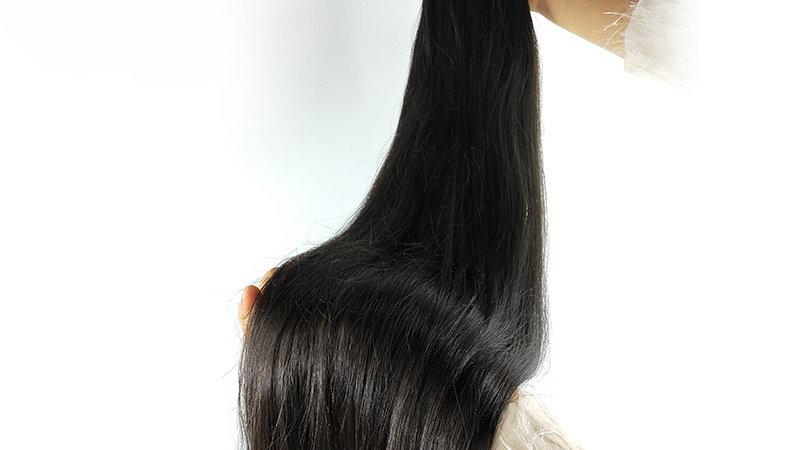 Malaysian Straight 100%Human Hair Ext 3/4Bundles Cuticle Aligned Virg Weaves