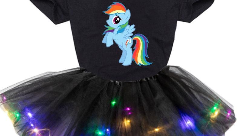 Kids Cartoon 2pc Clothing Set 3-7yrs  Tutu Dress