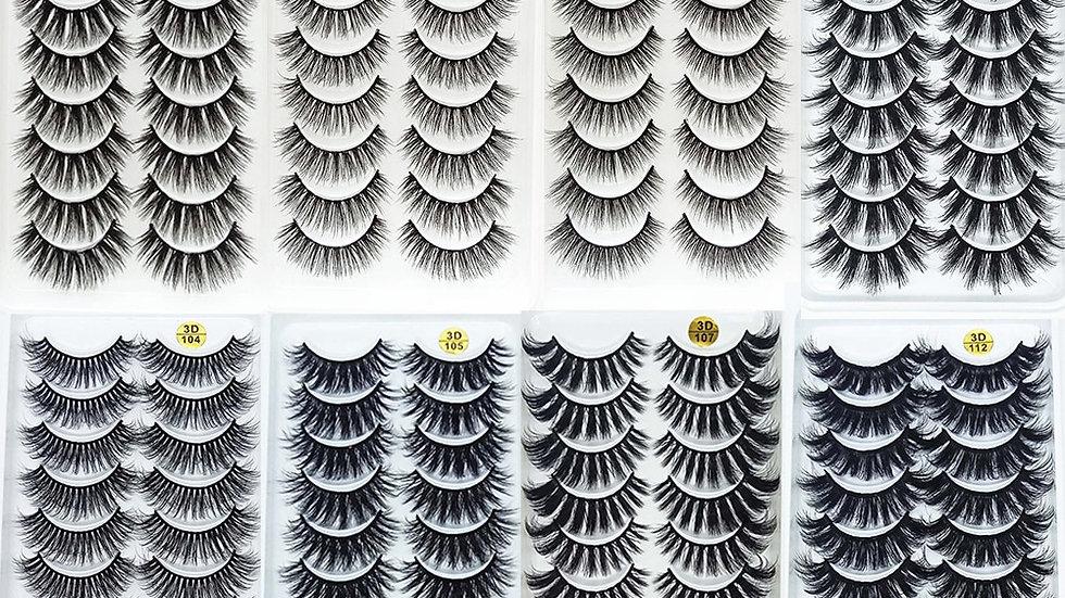 10Pairs 3D Mink Lashes Natural Eyelash Extensions