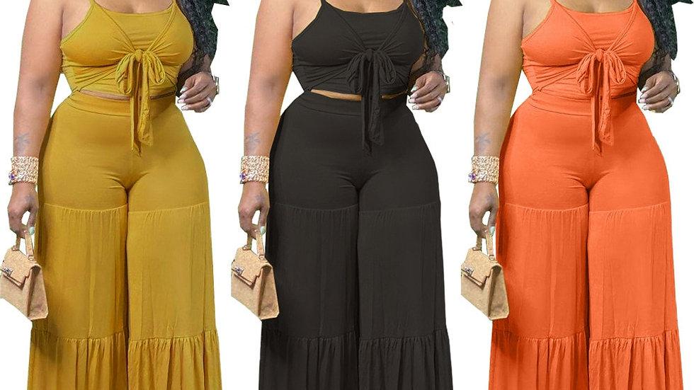 Plus Size Sleeveless v Neck Lace Knot Maxi Dress