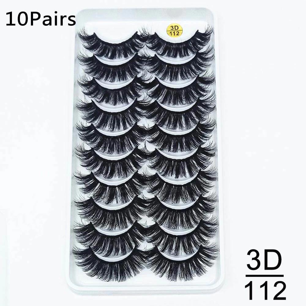 Thumbnail: 10Pairs 3D Mink Lashes Natural Eyelash Extensions