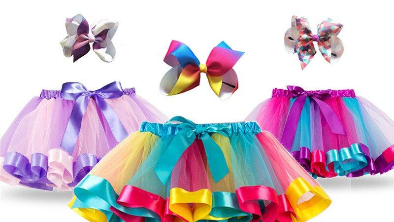 Princess Tutu Skirt Baby Girls Clothes/Fancy Unicorn Rainbow