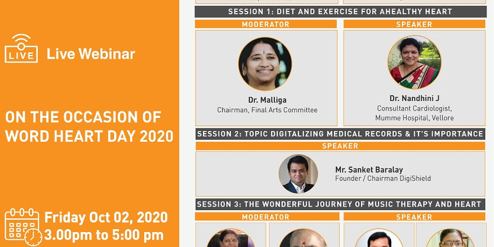 IMA TNSB & IMA Women's Wing invites you for CME on the occasion of WORD HEART DAY 2020