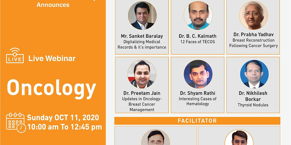 IMA Mumbai Branch, IMA CGP Mumbai Sub Faculty Announces webinar on Oncology