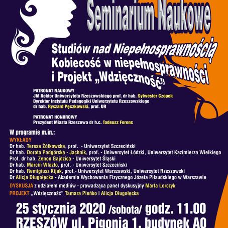 II SEMINARIUM NAUKOWE 25 01 2020