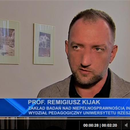 Wywiad w TVP Rzeszów.  Połączyć teorię i praktykę pomocy niepełnosprawnym w Polsce.