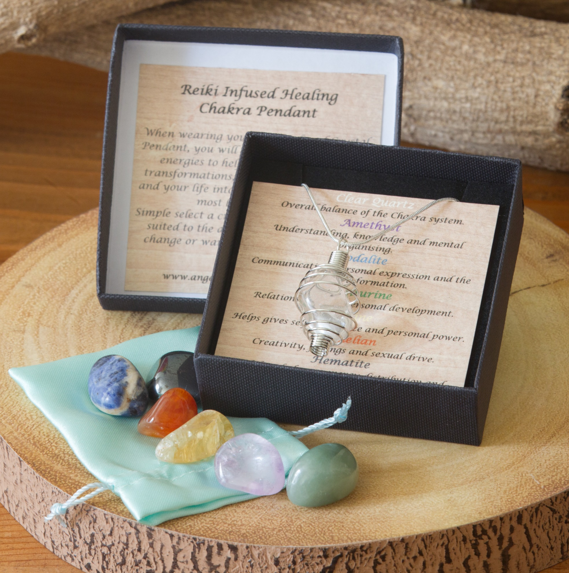 Chakra Reiki Infused Healing Crystal