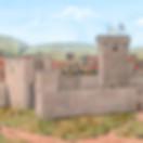 Reconstituição do castelo de Braga