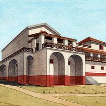 Reconstituição da villa de São Cucufate