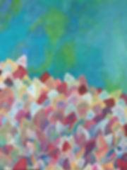quadro para parede, obra de arte, pintura intuitiva, quadro para decoracao, acrilico sbretela, quadro abstrato, quadro azul, quadro rosa, quadro de folha