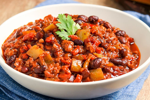 Diced Beef Chilli & Rice