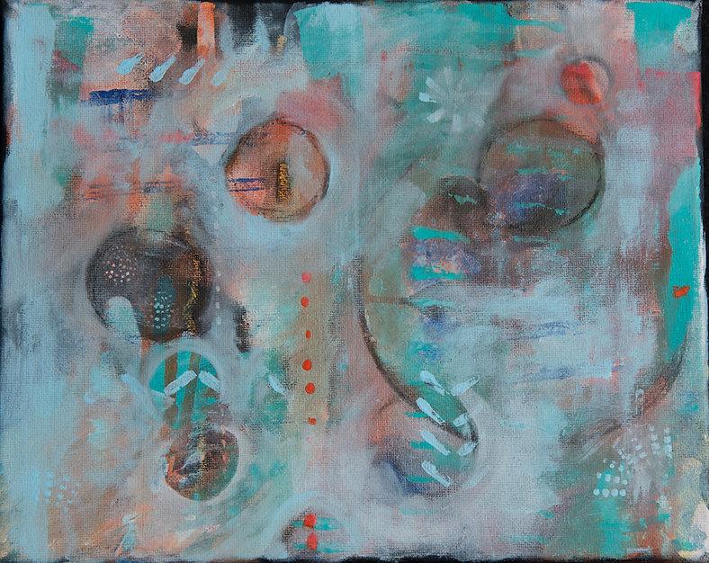 quadro azul, quadro verde agua, quadro pequeno, quadro pra parede obra de arte, pintura inutitiva, quadro para decoracao, acrilico sobre tela, quadro abstrato