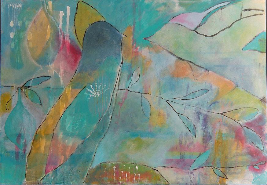 Quadro para parede, pintura intuitiva