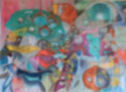 quadros para parede, obra de arte, pintura intuitiva, quadro para decoracao, quadro colorido, quadro de fundo do mar, quadro de folha , pintura intuitiva, acrilico sobre tela