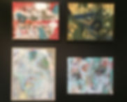 Conjunto de quadros pequenos, conjunto de quadros coloridos