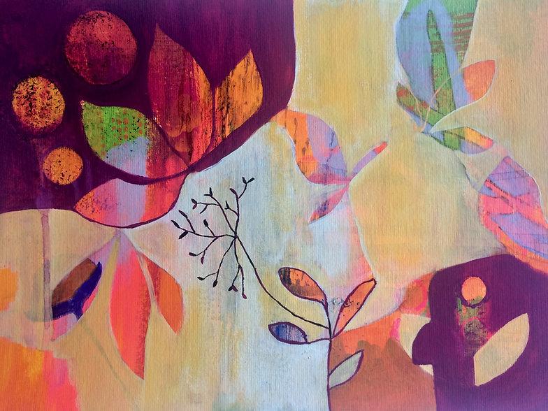 quadros para parede, obras de arte, pintura intuitiva, decoracao, acrilico sobre papel, quadro colorido, quadro amarelo
