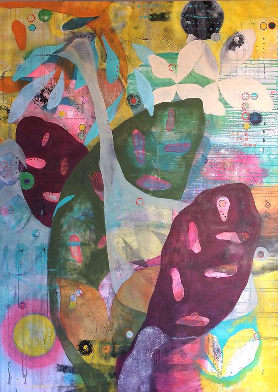 quadro para parede, obra de arte, pintura intuitiva, quadro para decorcao, acrilico sobre tela, qadro de passarinho