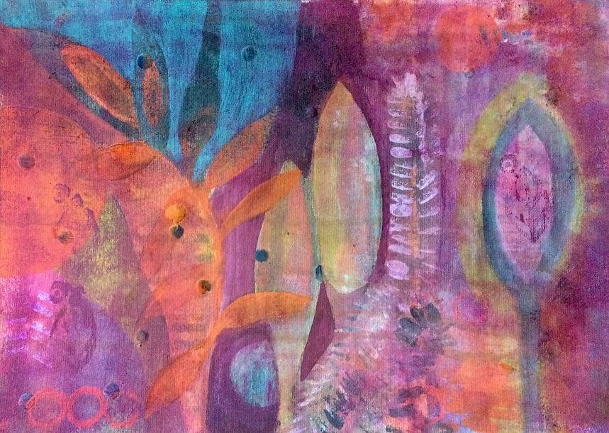 quadros para parede, obras de arte, pintura intuitiva, decoracao, acrilico sobre papel, quadro colorido, pintura abstrata, quadro colorido, quadro rosa, quadro laranja, quadro turquesa
