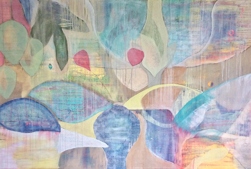 quadro para parede, obra de arte, pintura intutiva, quadro para decoracao, acrilico sobre tela, quadro abstrato, quadro de passarinho, quadro de flor, quadro colorido, quadro verde agua, quadro amarelo