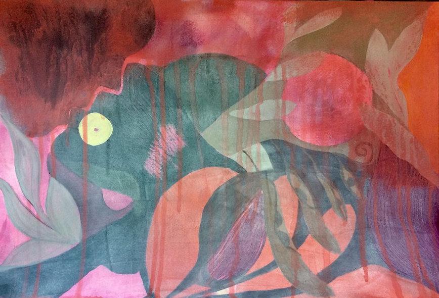 quadros para parede, obras de arte, pintura intuitiva, decoracao, acrilico sobre papel, quadro colorido, pintura abstrata, quadro colorido, quadro vermelho, quadro laranja