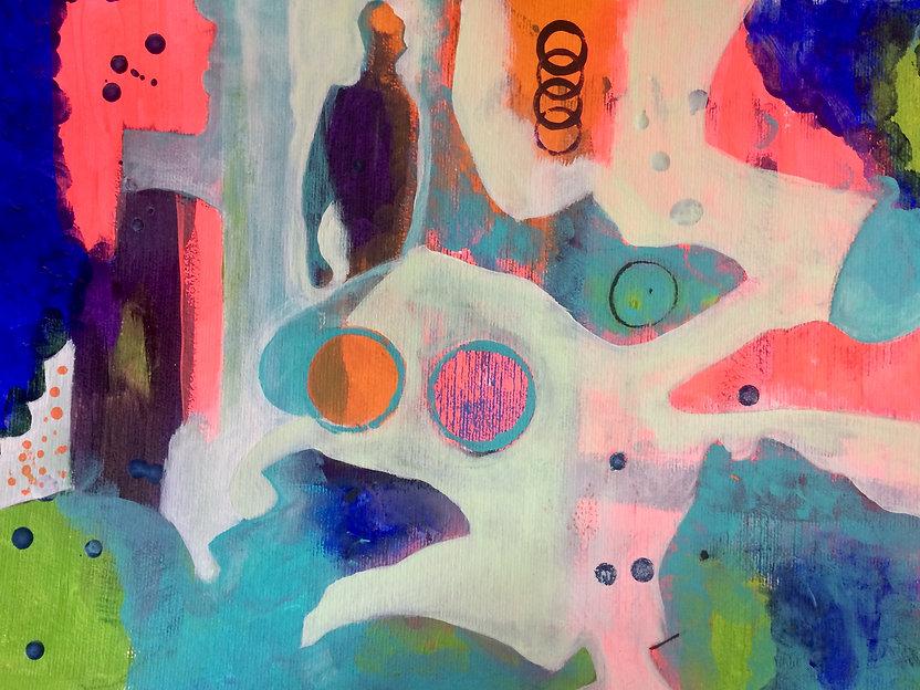 quadros para parede, obras de arte, pintura intuitiva, decoracao, acrilico sobre papel, quadro colorido, pintura abstrata