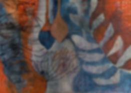 quadro laranja, quadro azul, quadro azul marinho, quadro para parede,obra de arte, pintura intuitiva, quadro para decoracao, acrilico sobre tela, quadro abstrato