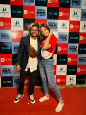 Dushyant Kapoor with Akanksha Singh at Suitboy Launch event