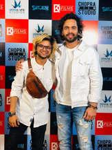 Dushyant Kapoor with Sourav Gautam at Suitboy launch event.