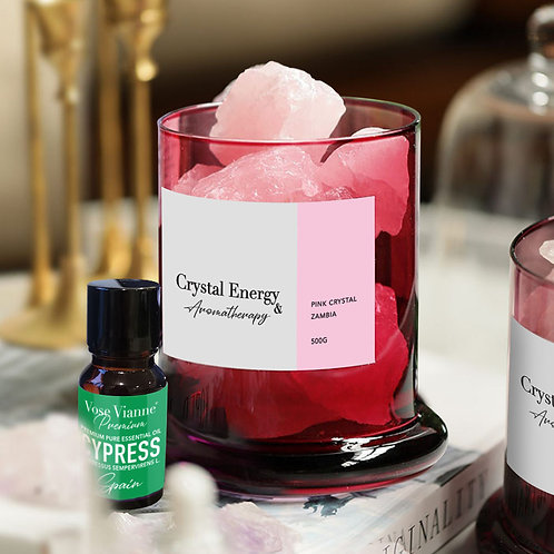 Zambian Pink Crystal & Cypress (Spain)