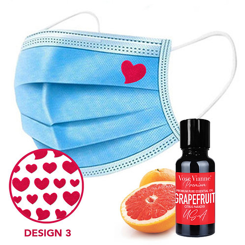 Mask Sticker Set 3 + Grapefruit (USA)