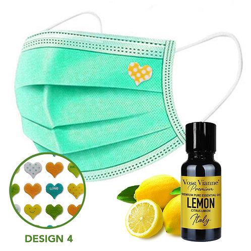 Mask Sticker Set 4 + Lemon (Italy)