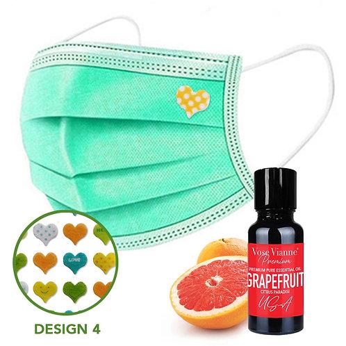 Mask Sticker Set 4 + Grapefruit (USA)