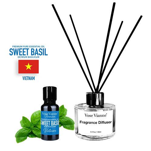 Fragrance Diffuser Set - Sweet Basil (Vietnam)