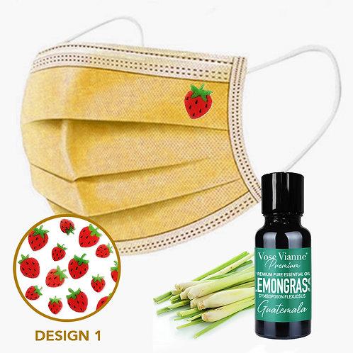 Mask Sticker Set 1 + Lemongrass (Guatemala)