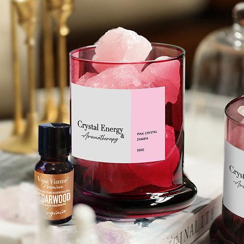 Zambian Pink Crystal & Cedarwood (Virginia)