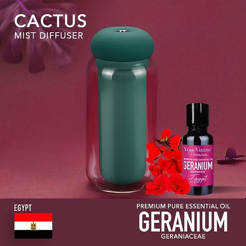 Cactus Diffuser Set - Geranium (Egypt)