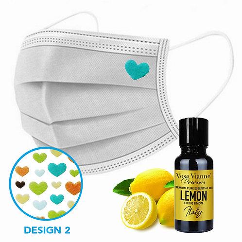 Mask Sticker Set 2 + Lemon (Italy)