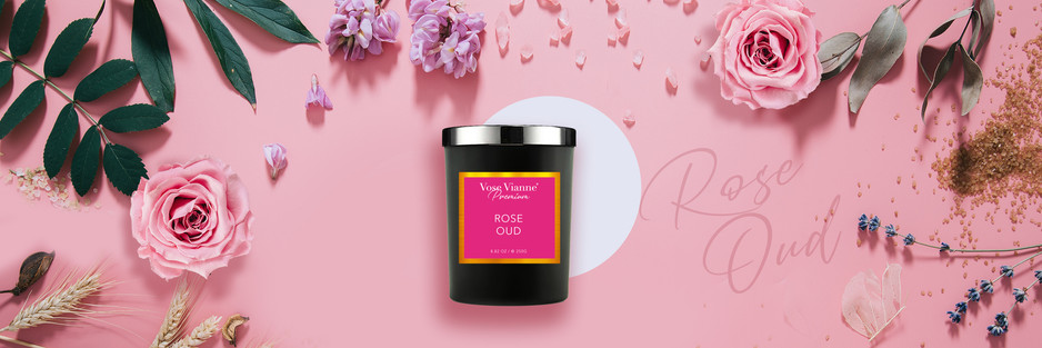 Rose OUD Luxury Candle 是采用土耳其的玫瑰花,它是世界顶级生产玫瑰的国家 - 2021年特别推荐全新的Vose Vianne 玫瑰沉香香薰蜡烛