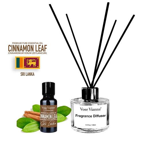 Fragrance Diffuser Set - Cinnamon Leaf (Sri Lanka)