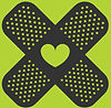 Bandage and hearts icon
