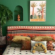 African interior design style showing Nilo Hook Pillow by Jungalow®.jpg