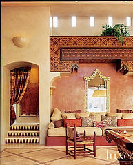 Colorful moroccan interior design